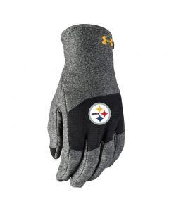 Pittsburgh Steelers Men's Under Armour NFL Combine Fleece Gloves