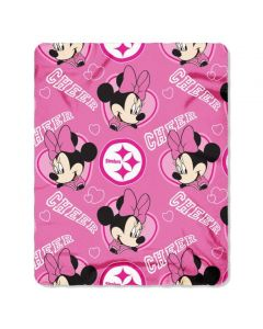 Pittsburgh Steelers Minnie Mouse Blanket