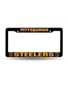 Pittsburgh Steelers Plastic Black License Plate Frame