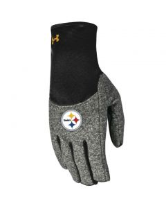 Pittsburgh Steelers Women's NFL Combine Under Armour Fleece Gloves