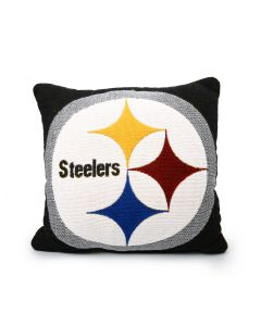 Pittsburgh Steelers Double Sided Jacquard 20x20 Pillow