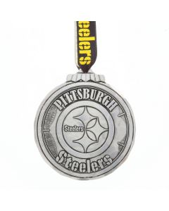 Pittsburgh Steelers Wendell August Forge Classic Round Logo Aluminum Ornament