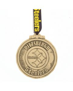 Pittsburgh Steelers Wendell August Forge Classic Round Bronze Logo Ornament