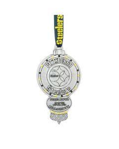Pittsburgh Steelers Wendell August Forge 6-Time Super Bowl Champs Aluminum Ornament