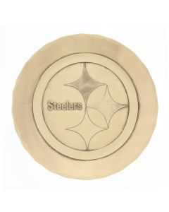 Pittsburgh Steelers Wendell August Forge Single Bronze Logo Coaster