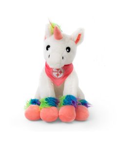 Pittsburgh Steelers Rainbow Pastel Unicorn Plush