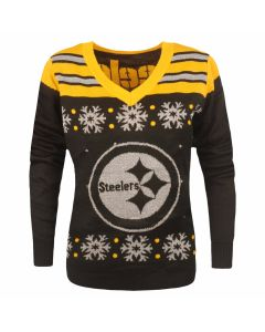 Pittsburgh Steelers Women's Light Up Ugly Sweater