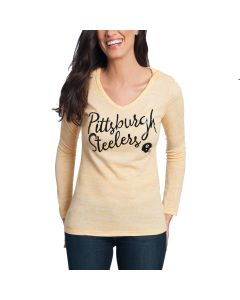 Pittsburgh Steelers Women's Game Day Thermal Long Sleeve Hooded T-Shirt