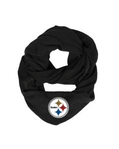 Pittsburgh Steelers Women's Black Knit Infinity Scarf
