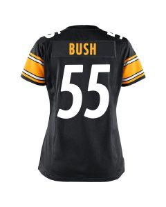 Devin Bush #55 Women's Nike Replica Home Jersey
