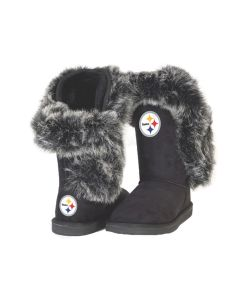 Pittsburgh Steelers Women's Champions Mini Winter Boots Black