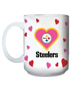 Pittsburgh Steelers All-Over Hearts Mug