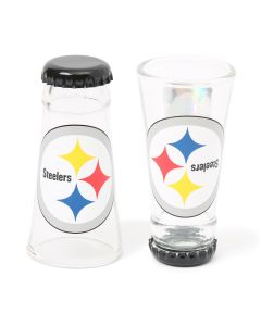 Pittsburgh Steelers Bottoms Up Bottle Cap Shot Glass