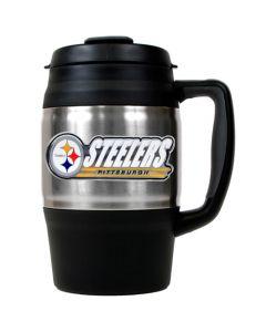 Pittsburgh Steelers 34oz. Bubba Macho Travel Mug