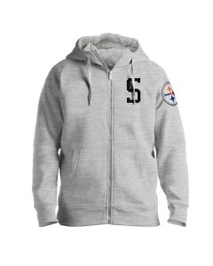 "Pittsburgh Steelers Men's ""S"" Victory Primary Fleece Full Zip Hoodie"