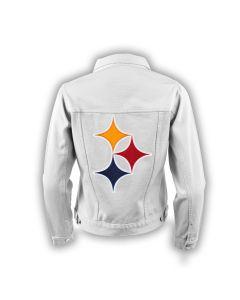 Pittsburgh Steelers Women's Flair Denim Jacket