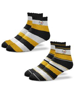 Pittsburgh Steelers Skip-Pro Stripe Fuzzy Socks - 2 pack