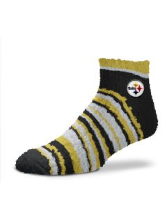 Pittsburgh Steelers Sleepsoft Muchas Rayas Fuzzy Socks