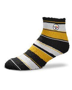 Pittsburgh Steelers Skip Stripe Fuzzy Socks