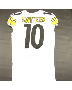 Pittsburgh Steelers Laundered 2019 Game Used #10 Ryan Switzer Away Jersey