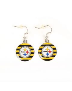 Pittsburgh Steelers Rugby Stripe Earrings