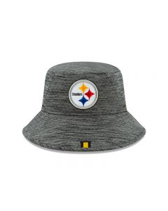 Pittsburgh Steelers New Era Sideline Training Graphite Bucket Hat