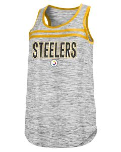 Pittsburgh Steelers Women's New Era Space Dye Glitter Stripe Tank