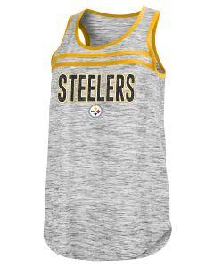 Pittsburgh Steelers Women's New Era Space Dye Glitter Stripe Tank