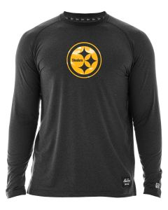 Pittsburgh Steelers Men's New Era Silicone Color Rush Long Sleeve T-Shirt