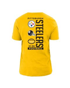 Pittsburgh Steelers Men's New Era Energy Back Team Logo Short Sleeve T-Shirt
