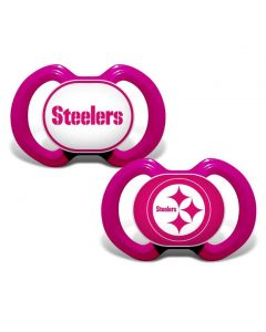 Pittsburgh Steelers Pink Pacifier 2 pack
