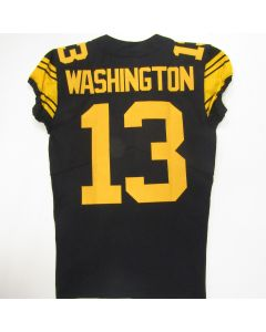 Pittsburgh Steelers #13 James Washington Game Used Color Rush Jersey