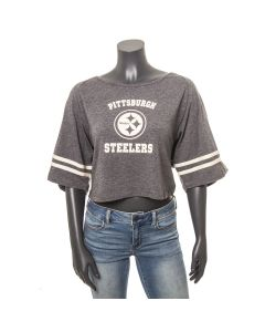 Pittsburgh Steelers Women's 3/4 Sleeve Raglan Crop T-Shirt