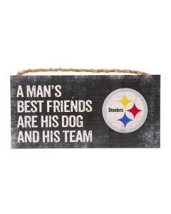 Pittsburgh Steelers Man's Best Friend Wood Sign