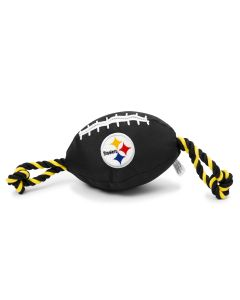 Pittsburgh Steelers Nylon Football Dog Toy