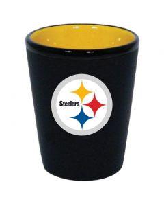 Pittsburgh Steelers Logo Two Tone Shot Glass