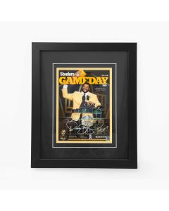 Pittsburgh Steelers #36 Jerome Bettis Signed Game Day Program Framed