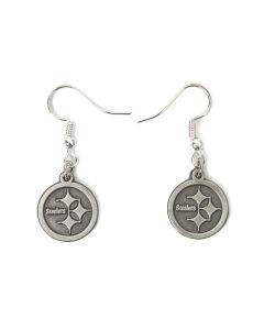 Pittsburgh Steelers Misty Antique Silver Earrings