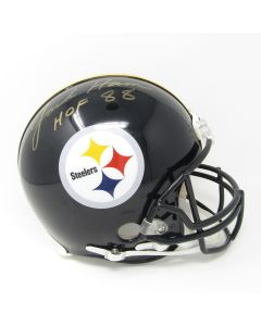 Pittsburgh Steelers #59 Jack Ham Autographed with HOF Inscription Riddell ProLine Authentic Full Size Helmet