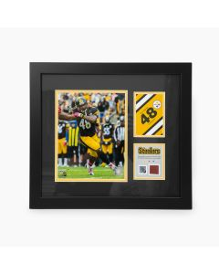 Pittsburgh Steelers #48 Bud Dupree Framed Home Photo with a piece of Game-Used Football