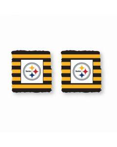 Pittsburgh Steelers Throwback Stripe Wristbands