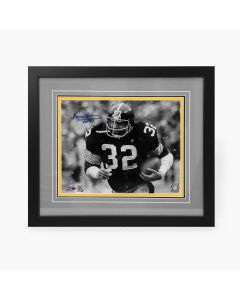 Pittsburgh Steelers #32 Franco Harris 'Snow' Signed Framed 11x14 Photo