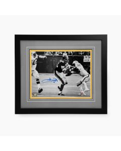 Pittsburgh Steelers #32 Franco Harris 'Black/White' Signed Framed 11x14 Photo