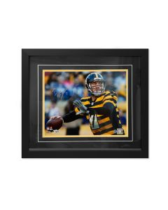 Pittsburgh Steelers #7 Ben Roethlisberger Throwback Signed Framed 11x14 Photo