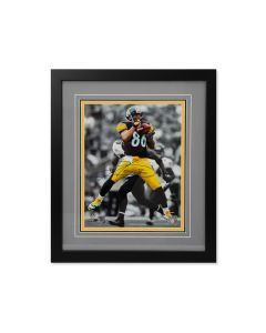 Pittsburgh Steelers #86 Hines Ward Catch Signed Framed 11x14 Photo