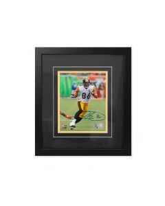 Pittsburgh Steelers #86 Hines Ward Away Action Signed Framed 8x10 Photo