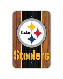 Pittsburgh Steelers Logo Woodgrain Sign