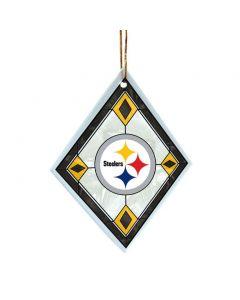 Pittsburgh Steelers Diamond Art Glass Diamond Ornament