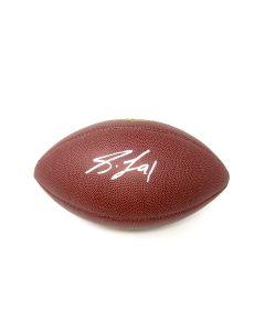 Pittsburgh Steelers #91 Stephon Tuitt Autographed Wilson NFL 'The Duke' Replica Football