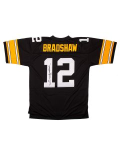 Pittsburgh Steelers #12 Terry Bradshaw Autographed Mitchell & Ness Limited Jersey